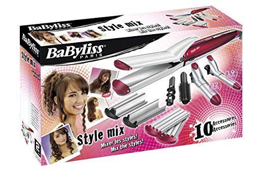 photo Wallpaper of BaByliss-BaByliss Multistyler MS21E   Set Moldeador De Pelo 10 En-Rojo, Plata
