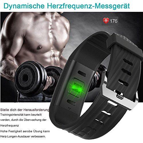 photo Wallpaper of YAMAY-Fitness Armband,Yamay Fitness Tracker Mit Herzfrequenz Wasserdicht IP67 Smart Watch Pulsuhren Aktivitätstracker-Schwarz