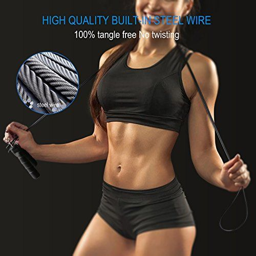 photo Wallpaper of TechRise-Springseil Speed Rope, TechRise 3M Stahlseil Jump Speed Rope Seilspringen Profi-