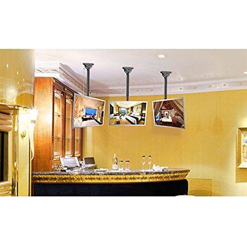 photo Wallpaper of paduTec-Fernseher Deckenhalterung Wandhalterung Halter Schwenkbar Neigbar Plasma LCD LED Wandhalter Für Fernseher Mit-Schwarz