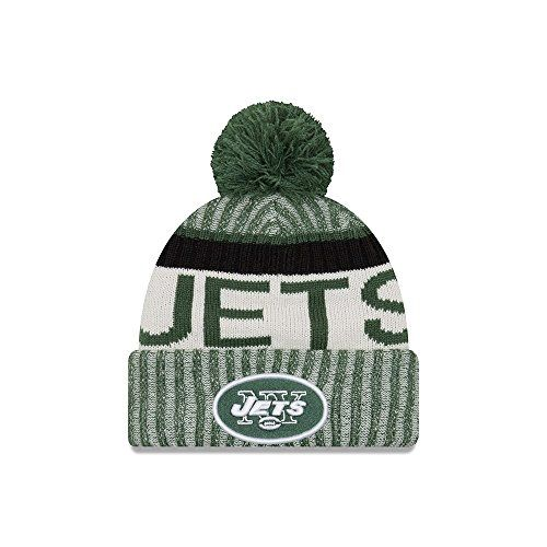 photo Wallpaper of New Era-New Era Herren Accessoires / Wintermütze On Fiel NFL Sport NY Jets Grün Einheitsgröße-Grün