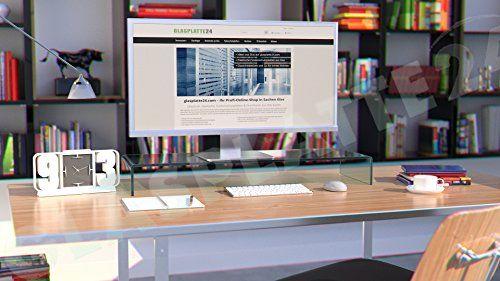 photo Wallpaper of DURATABLE-DURATABLE® TV Glasaufsatz Glastisch LCD Tisch Aufsatz Monitorerhöhung Fernsehtisch Glas Schrankaufsatz-transparent