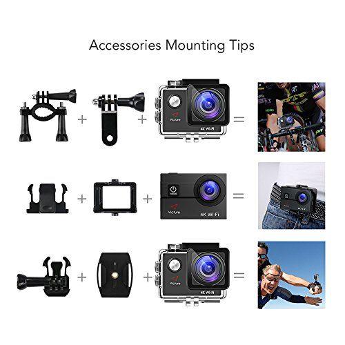 photo Wallpaper of Victure-Victure Action Cam 4K WIFI Kamera Unterwasser Kamera 16MP Ultra HD-4K WiFi