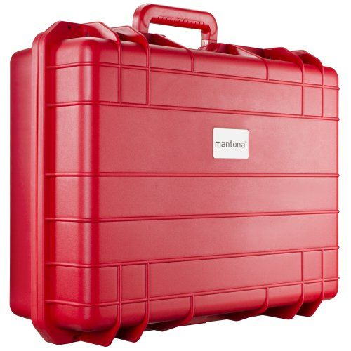 photo Wallpaper of Mantona-Mantona Outdoor Foto Equipment Schutz Koffer (Größe L, Wasserdicht, Stoßfest,-rot