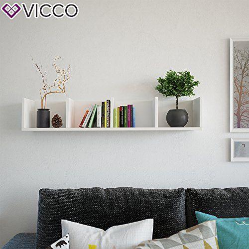 photo Wallpaper of Vicco-VICCO Wandregal 90 Cm Weiß   Für CD DVD-Weiß