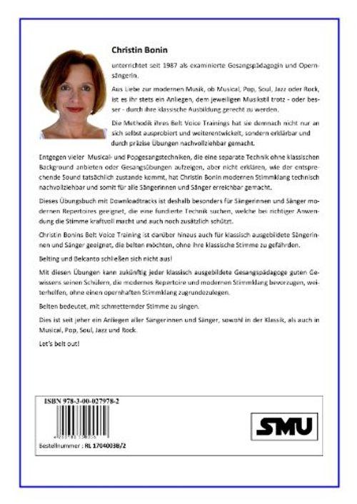 photo Wallpaper of Bonin, Christel / SMU Verlag-Belt Voice Training: Gesangstechnik Für Musical, Pop, Soul, Jazz & Rock-
