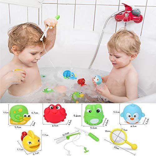 photo Wallpaper of Loori-Loori Badewannenspielzeug Baby 11tlg Badespielzeug Wasserspielzeug Mit 4 Spray Wasser & Schwimmen-