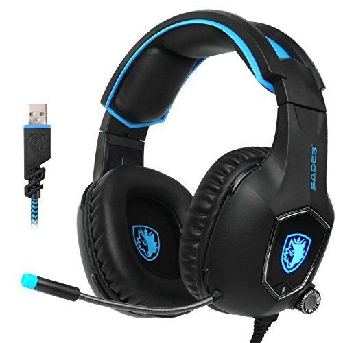 photo Wallpaper of Sades-SADES R13 USB Gaming Headset 2017 Neue Update Gaming Headset-AW50Black
