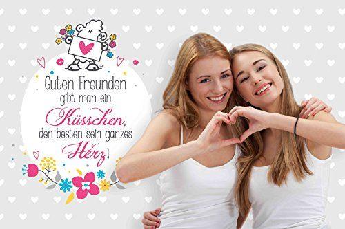 photo Wallpaper of Sheepworld-Sheepworld 44402 Baumwoll Kissen Mit Spruch Guten Freunden Gibt Man-Mehrfarbig