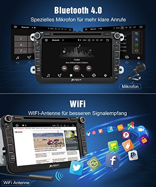 photo Wallpaper of PUMPKIN-PUMPKIN Android 8.0 Autoradio 4GB DVD Player Für VW Mit Navi 8 Zoll Bildschirm-PUMPKIN Android 8.0 4GB Autoradio