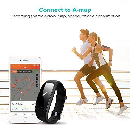 photo Wallpaper of runme-Runme Fitness Armbänder Mit Herzfrequenz   Fitness Tracker Mit Schrittzähler Bluetooth Fitness-Weihnachten Verpackung - Schwarz