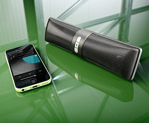 photo Wallpaper of auvisio-Auvisio Streaming Lautsprecher: Portabler Lautsprecher Mit Bluetooth 3.0, Freisprech Funktion, 12 Watt (Mobiler-Schwarz