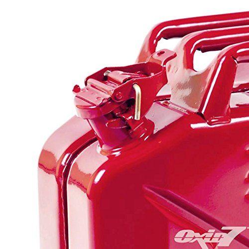 photos of 2x Oxid7® Benzinkanister Kraftstoffkanister Metall 20 Liter Rot Mit UN Zulassung   TÜV Rheinland Zertifiziert   Bauart Geprüft   Für Benzin Und Diesel Best Buy Kaufen   model Automotive Parts and Accessories