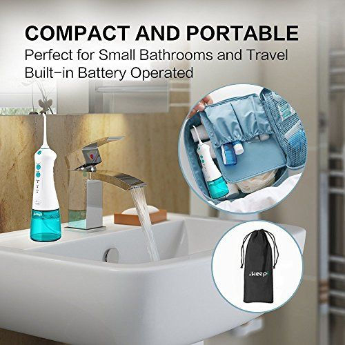 photo Wallpaper of Ikeepi-Ikeepi Irrigador Dental Irrigador Bucal Eléctrico Recargable Oral Irrigador Portátil 2 Boquillas-