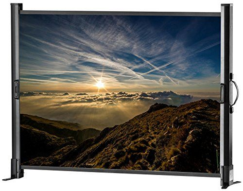 photo Wallpaper of Celexon-Celexon 1090377 Tischleinwand Mobil Professional, Format 4:3, 102 X 76 Cm-Nero, bianco