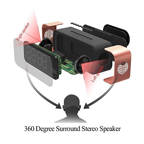 photo Wallpaper of Daxstar-Bluetooth Lautsprecher, Portable Kabelloser Lautsprecher 10W Treiber Mit Eingebauten Mikrofon, TF-Rosa