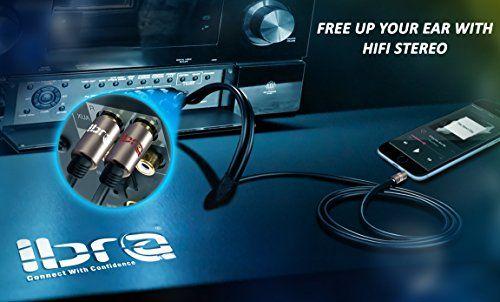 photo Wallpaper of IBRA-IBRA® Stereo Audio Klinke Zu 2x Cinch Kabel [15M]   3,5mm Klinken-Gun Metal