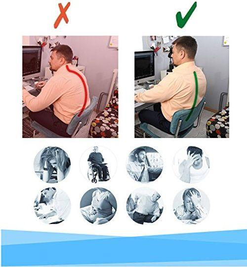photo Wallpaper of Mipies-Sitzkissen Orthopädisches | Ischias Kissen Sitzauflage Auto Und Büro | Memory-gelb
