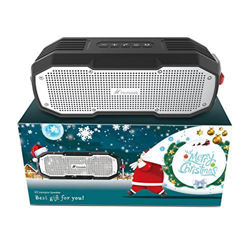 photo Wallpaper of Honstek-Tragbare Bluetooth Lautsprecher, Honstek K9 Wasserdichter Bluetooth Lautsprecher IPX7 DSP Stereo Bass-Braun