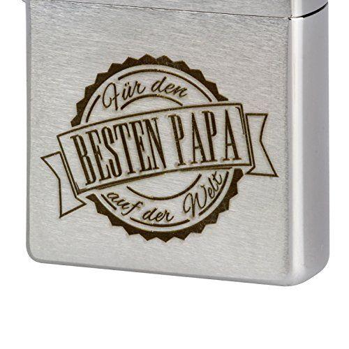 photo Wallpaper of Druckspezialist-Bester Papa Der Welt Original Zippo Feuerzeug Mit Lasergravur Gravur Brushed-Silber