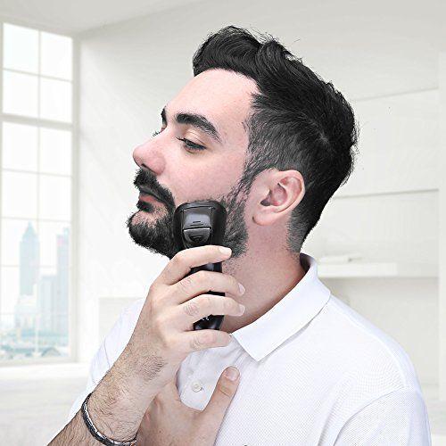 photo Wallpaper of YOHOOLYO-Afeitadora Eléctrica Rotativa Máquina De Afeitar Recortador De Barba Para Hombre Impermeable-Gris Y Negro