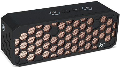 photo Wallpaper of KitSound-KitSound Hive2 Wireless Bluetooth Tragbarer Lautsprecher Mit 3,5mm Audioeingang Kompatibel Mit Apple-Schwarzkupfer