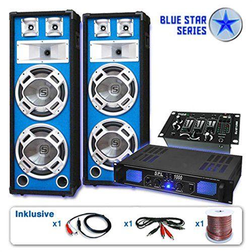photo Wallpaper of Unbekannt-PA Set Blue Star Series Basskern USB 2800 Watt-blau-schwarz