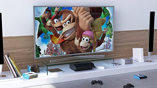 photo Wallpaper of DURATABLE-DURATABLE® TV Glasaufsatz Glastisch LCD Tisch Aufsatz Monitorerhöhung Fernsehtisch Glas Schrankaufsatz-Klarglas