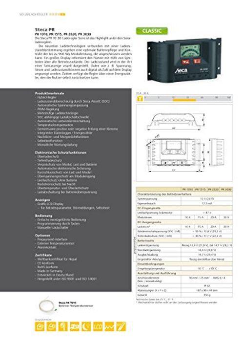 photo Wallpaper of Unbekannt-Steca Solarladeregler Mit LCD Display Und Lastausgang Für 12 V Verbraucher Bis 10 A,-