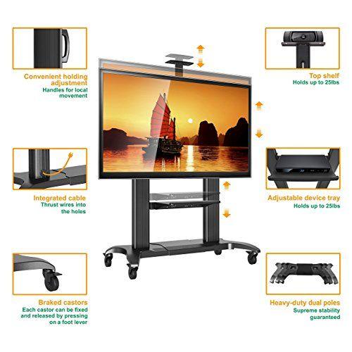 photo Wallpaper of STANDMOUNTS-STANDMOUNTS Fernsehständer Mit Rollen TV Ständer Universal LCD LED TV Fernseher Standfuss-Schwarz