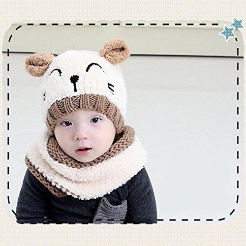 photo Wallpaper of Ceanfly-Baby Hüte Kinder Mütze Süße Warme Feinstrick Beanie Mütze Baby Hat Für Das-#3 Beige
