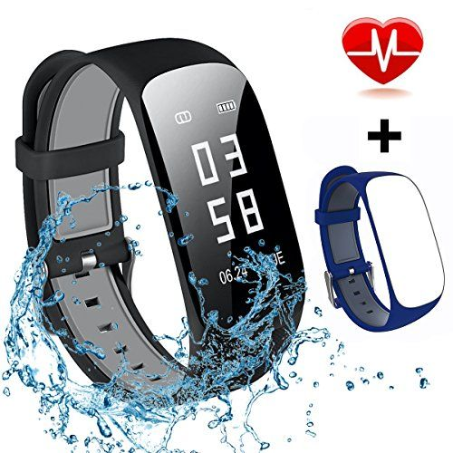 photo Wallpaper of MOCRUX-Mocrux Fitness Tracker HR Unisex Armband Zur Herzfrequenz-Blau