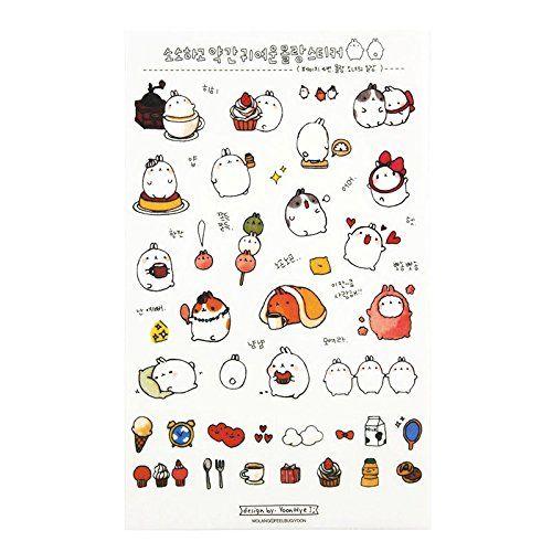 photo Wallpaper of Kanggest-Kanggest 6Pcs Tagebuch Transparente Aufkleber Dekoration Scrapbooking Deco Kalender Koreanische Version Cute Kaninchen-Rabbit