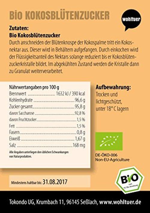 photo Wallpaper of Wohltuer-Wohltuer Bio Kokosblütenzucker, 1er Pack (1 X 2 Kg)-