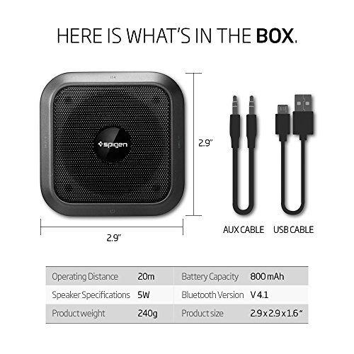 photo Wallpaper of Spigen-Bluetooth Lautsprecher, Spigen [Premium Bluetooth 4.1] [Micro SD] Kabellose Lautsprecher-Black