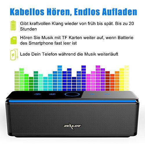 photo Wallpaper of ZEALOT-ZEALOT S7 Kabelloser Bluetooth Lautsprecher Mit Dual Treiber Kraftvollem Sound Musik Box Mit-Schwarz