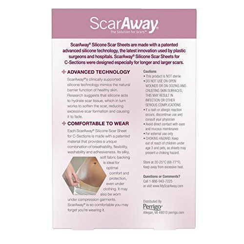 photo Wallpaper of ScarAway-ScarAway C Section Scar Treatment Strips, Silicone Adhesive Soft Fabric 4 Sheets (7 X-