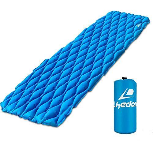 photo Wallpaper of Lhedon-Aufblasbare Isomatte,Lhedon Ultraleicht Kompakte Camping Isomatte Feuchtigkeitsfest Luftmatratze Für Camping Wandern Backpacking-Blau