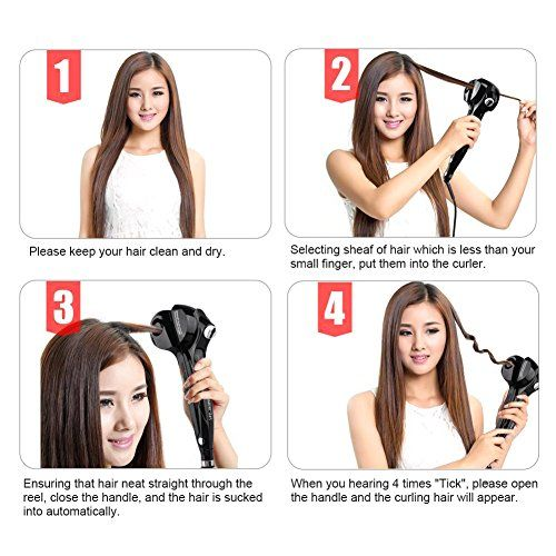 photo Wallpaper of ARINO-ARINO Curly Lockendreher Haar Curler Dampf Haar Anion Lockenstab Steamer Curler Keramik-Schwarz