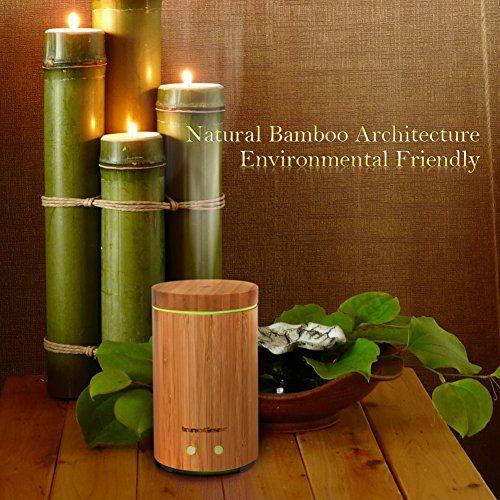 photo Wallpaper of InnoGear-InnoGear 160 ML Difusor De Aceite Esencial De Bambú De Real-