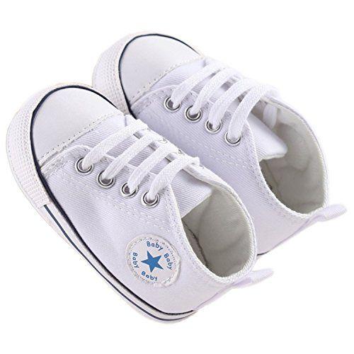 photo Wallpaper of QZBAOSHU-QZBAOSHU Säuglingskleinkind Erste Wanderer Schuhe Weiche Untere Segeltuch Schuhe Für Baby Mädchen Baby Jungen-Weiß