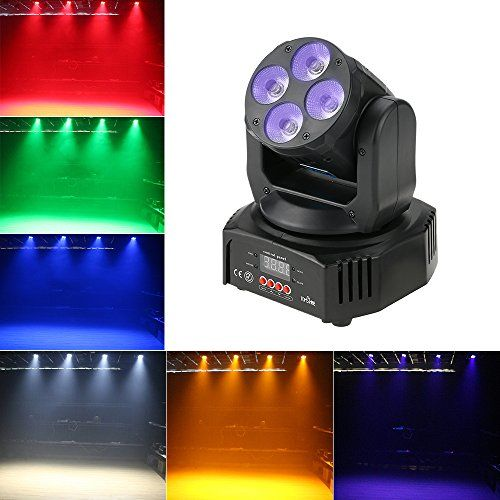 photo Wallpaper of Tomshine-Tomshine 60W 4 LEDs Moving Head,Bühnenlicht, Disco Lampe,DMX512 Disco Licht,16/18 Kanäle, 4-60w
