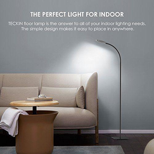 photo Wallpaper of TECKIN-Stehlampe, LED Stehleuchte Dimmbar, TECKIN Lesen Standleuchte Fur Wohnzimme Und Schlafzimmer,-Schwarz
