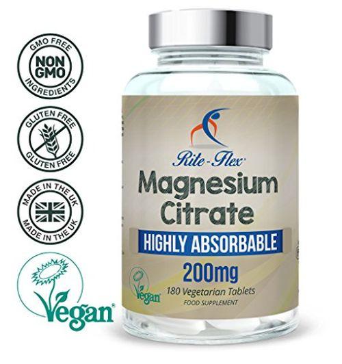 photo Wallpaper of Rite-Flex-Citrato De Magnesio 180 Tabletas Certificadas Veganas, Magnesio Altamente Absorbible-