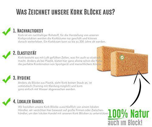 photo Wallpaper of AMITYUNION-Yogablock Kork Set 2 Aus 100% Natur   Hatha Klotz   Auch-Doppel Set - 75mm Stärke