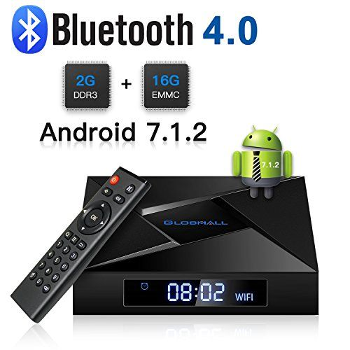 photo Wallpaper of Globmall-Globmall X4 Android 7.1 Smart TV Box 2 GB RAM 16 GB Bluetooth 4.0-Schwarz