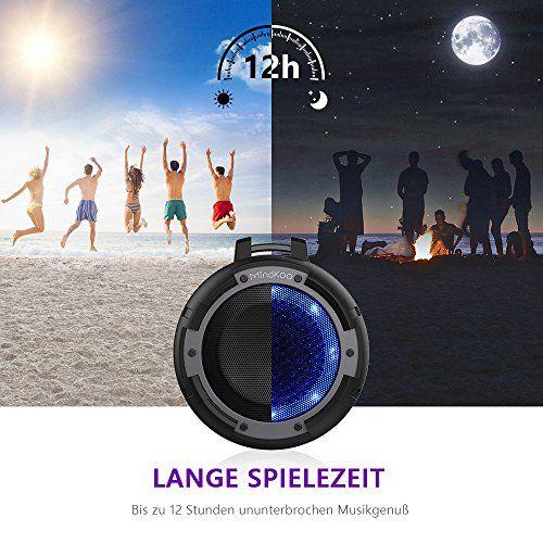 photo Wallpaper of MindKoo-Bluetooth Lautsprecher, MindKoo LED Wireless Speaker IPX8 Wasserdicht Mit Eingebauten Mikrofon,4 LED-