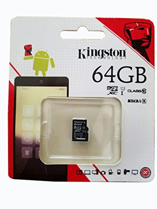 photo Wallpaper of Kingston-Kingston SDC10G2/64GB MicroSD Klasse 10 Bis Zu 45MB/s Speicherkarte (mit SD Adapter)-Schwarz