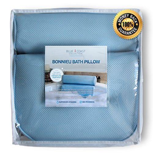 photo Wallpaper of Blue Coast Collection-Almohada Premium Para Bañera. El Bonnieu Bath Pillow Es Un Cojín Reposacabezas-Azul