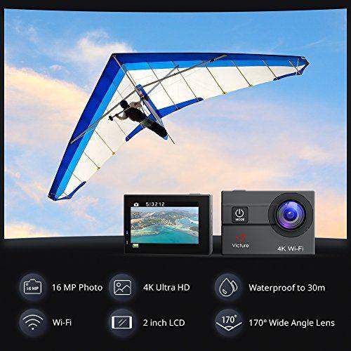 photo Wallpaper of Victure-Victure Action Cam 4K WIFI Kamera Unterwasser Kamera 16MP Ultra-4K WiFi
